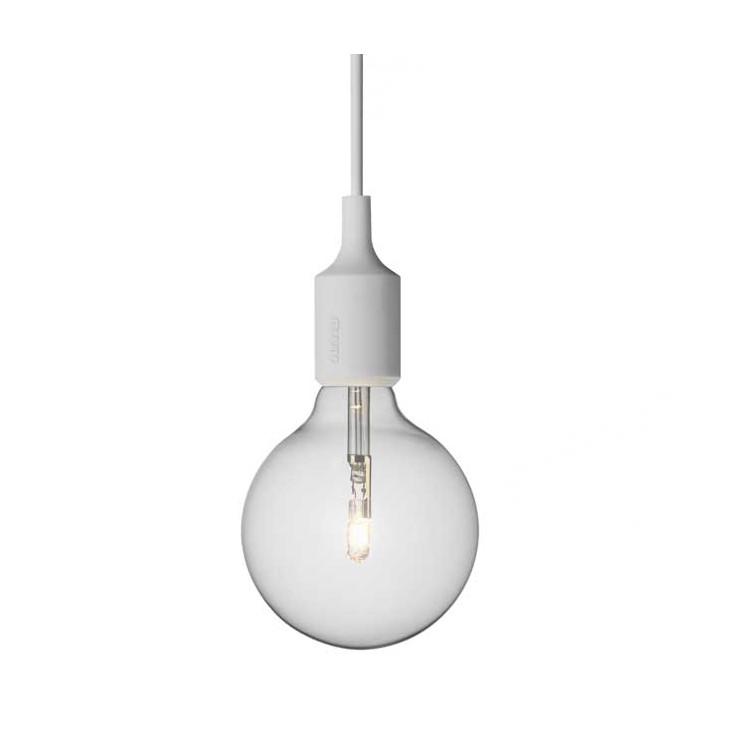 Lámpara E27 Gris Claro ER