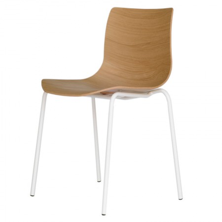 Silla Loku Base Tubular Roble