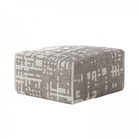 Pouf Canevas Square Abstract Plata