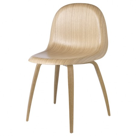 Silla Gubi 3D Wood