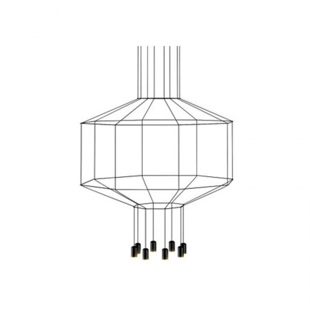 Lámpara Wireflow Volumetric 8 Leds