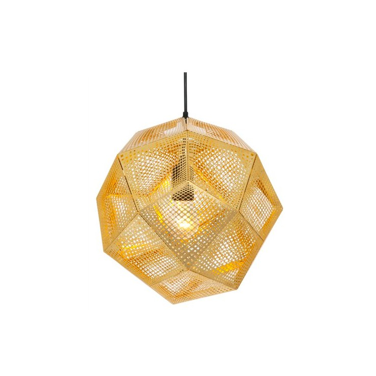 Lámpara Etch Shade Pendant Brass