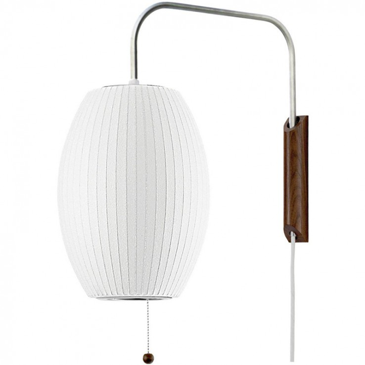 Lámpara Nelson Cigar Wall Sconce Cabled