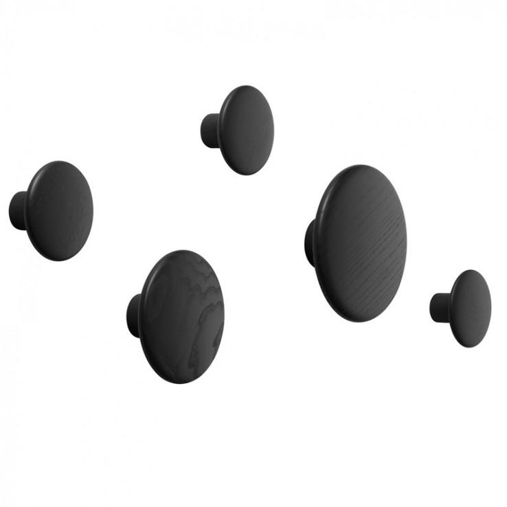 Set Colgador The Dots Negro ER