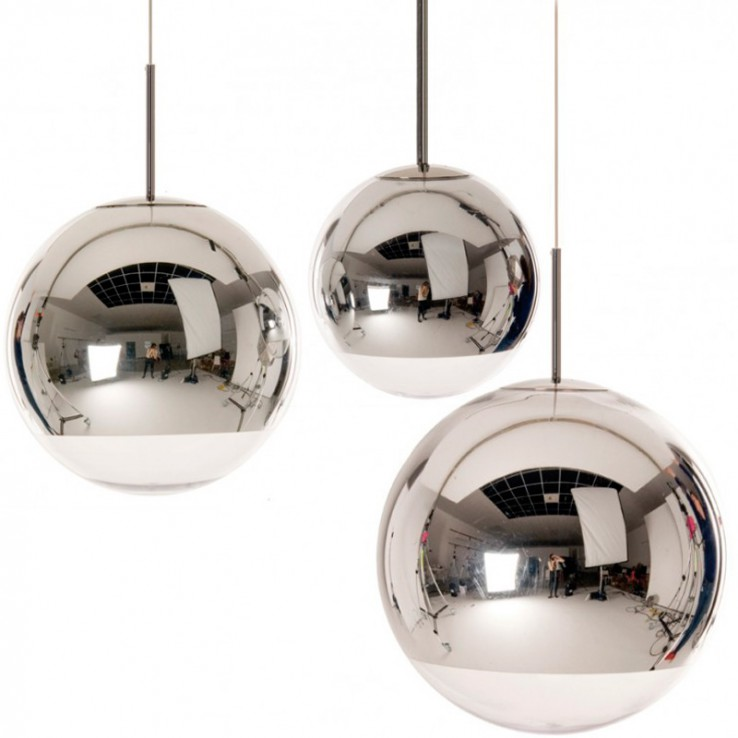 Lámpara Mirror Ball Silver Pendant