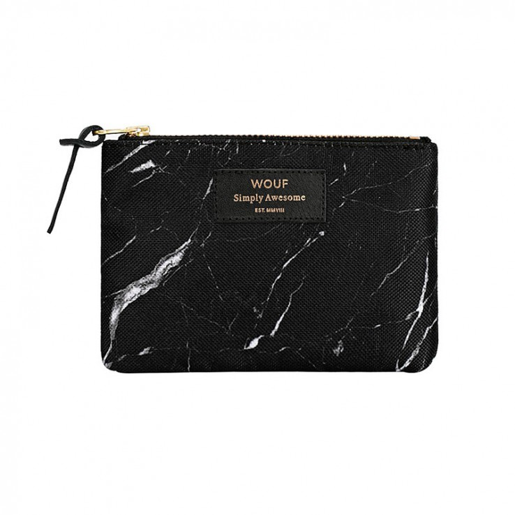 Pouch Black Marble Small ER