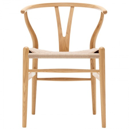 Silla CH24 Wishbone Roble Aceitado Natural ER