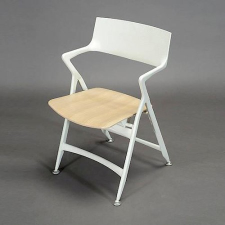 Silla Dolly Blanco / Roble