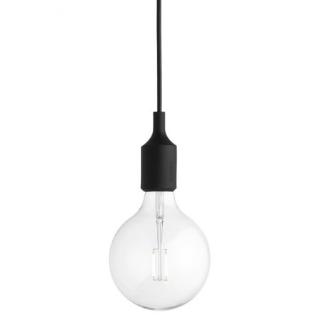Lámpara E27 Negro LED ER