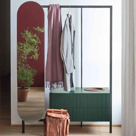Cromado Spirella colecci/ón Sydney Metal Reversible: 100/% y x2 aumentos Espejo de pie para tocador o ba/ño 17x17x27