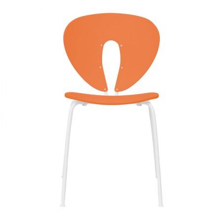 Silla Globus Polipropileno Naranja / Blanco