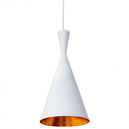Lámpara Beat Tall Pendant Blanco