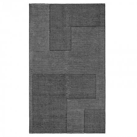 Alfombra Stripe Negro/Blanco Rectangular