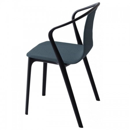 Silla Belleville Leather Arms