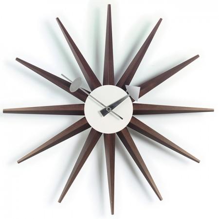 Reloj Sunburst Nogal ER
