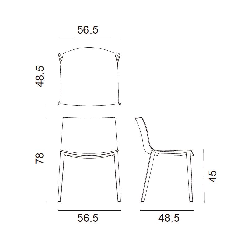 Silla catifa 53 for Muebles de oficina 08018