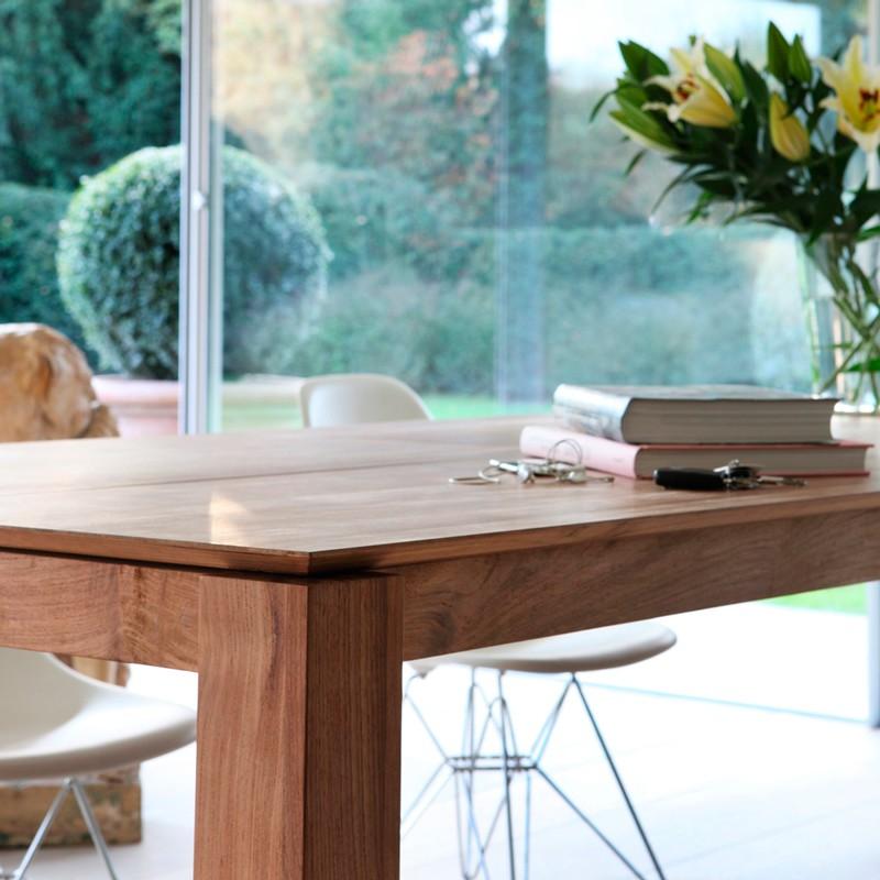 mesa slice extensible roble. Black Bedroom Furniture Sets. Home Design Ideas