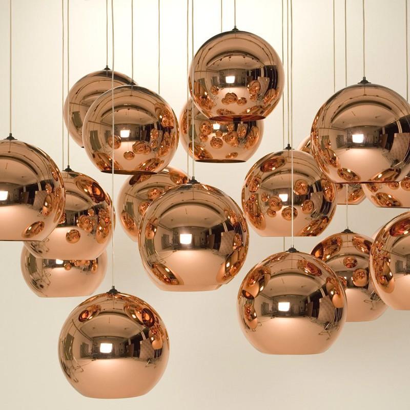 Tom Dixon E Blackbarry : Lámpara copper shade Ø cm pendant