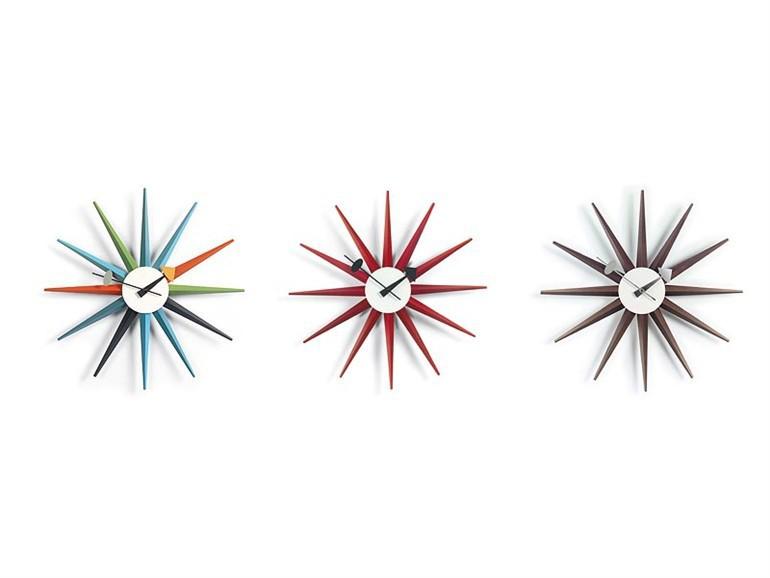 reloj sunburst multicolor. Black Bedroom Furniture Sets. Home Design Ideas