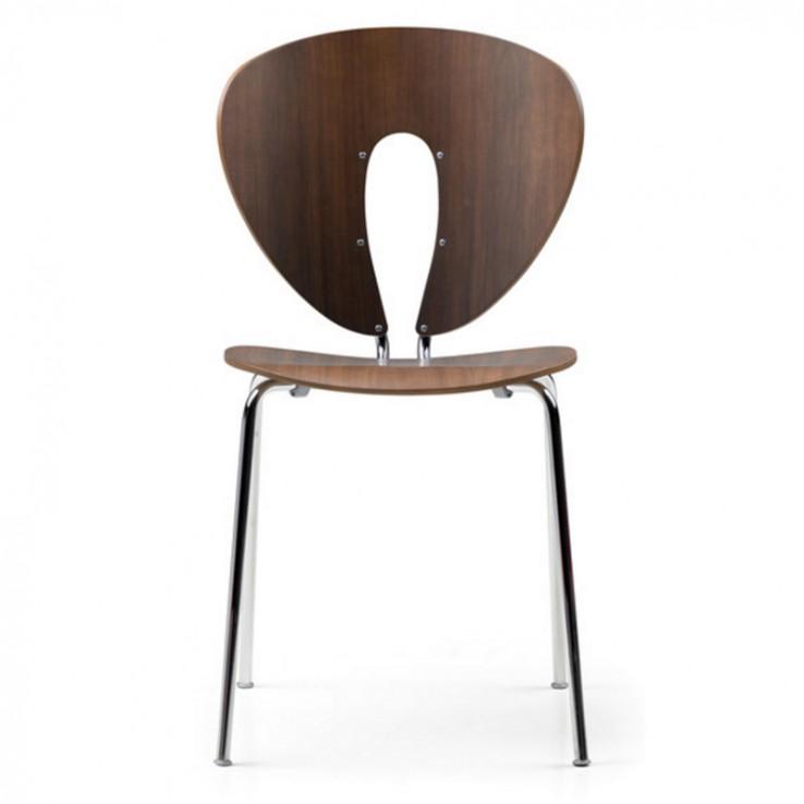 Globus Chair Chrome Wood