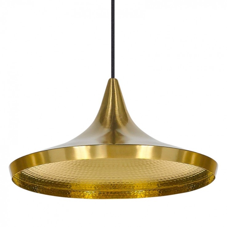Beat Wide Brass Pendant Lamp