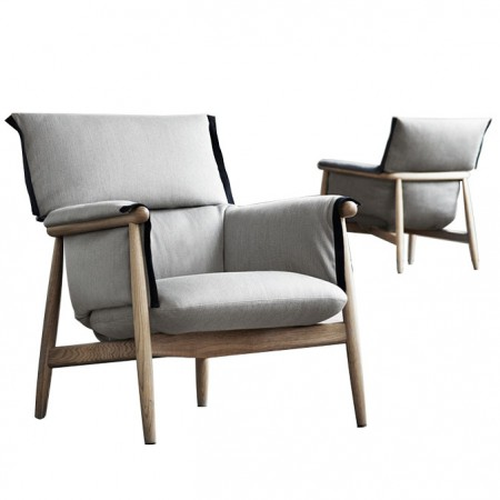 E015 Embrace Lounge Chair Oak / Grey