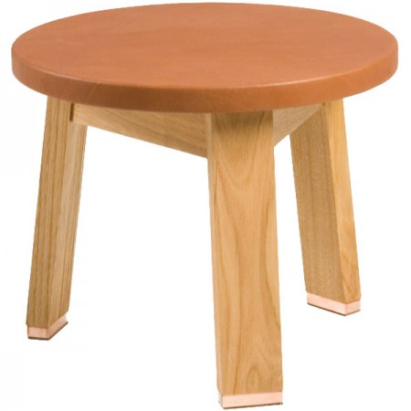 440 Leather Low Stool