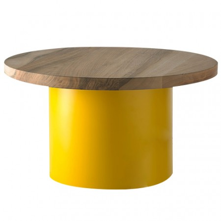 Enoki Ø 550 mm Table Yellow - Oiled Oak