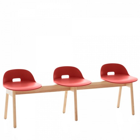 Alfi 3 Seater Low Back Bench