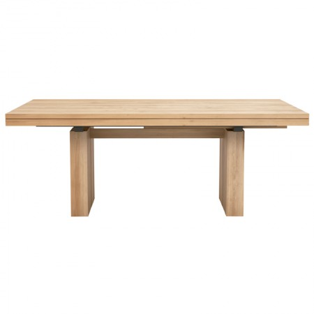 Oak Double Extendable Table