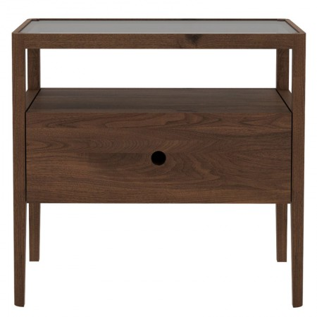 Spindle Nightstand Walnut