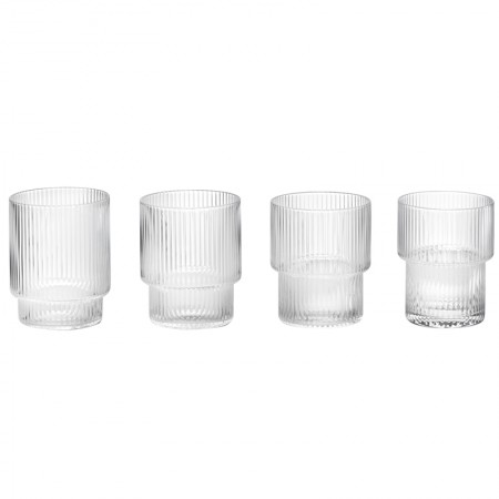 Ripple Glasses Set Of 4 QD