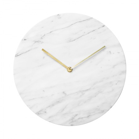 Marble White Wall Clock