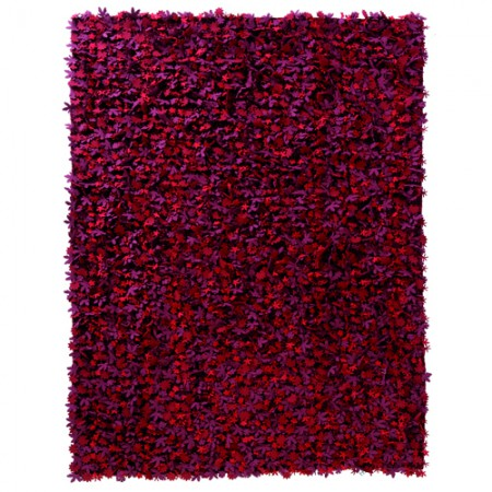 Little Field of Flowers Red Rug