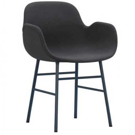 Form Metal Armchair Upholstered