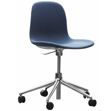 Form Swivel Chair With Wheels Upholstered