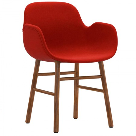 Form Wood Armchair Upholstered