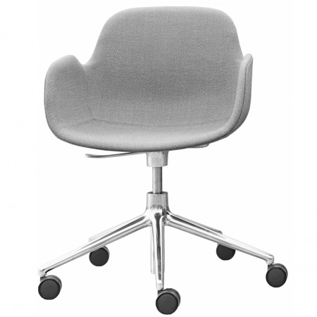 Form Swivel With Wheels Armchair Upholstered