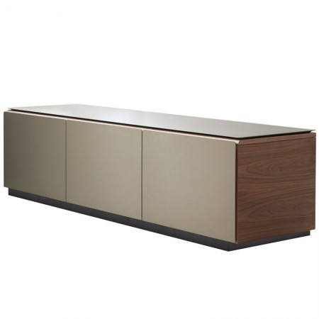 Malmö Low Walnut Bronze Sideboard