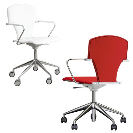 Egoa Chair Castors Upholstered