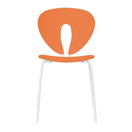Globus Chair Polypropylene Orange / White