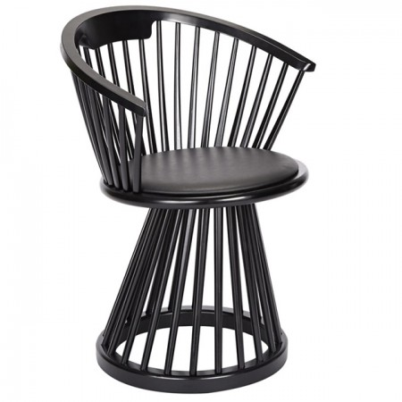 Fan Dining Chair Black