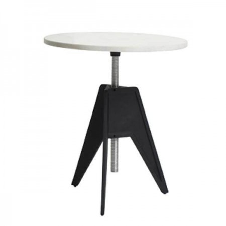 Marble Small Round Top Screw Base Table