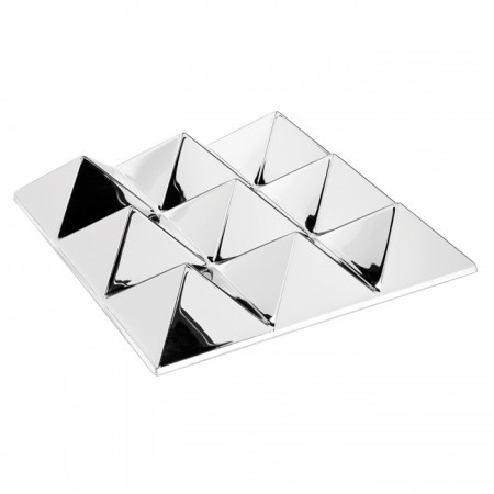 9 Pyramids Mirror Sculptures Panel