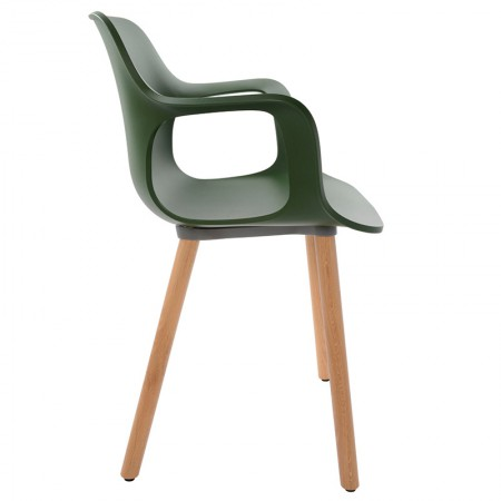 HAL Arms Wood Chair