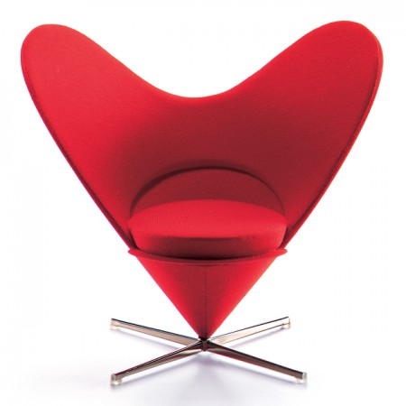 Heart Shaped Cone Chair Miniature