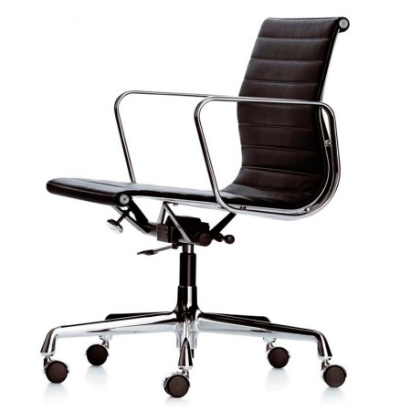 Aluminium Chair EA 117 Leather