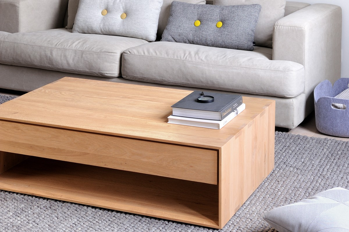 Thin Salontafel Ethnicraft : Ethnicraft nordic console table storage natural bed company