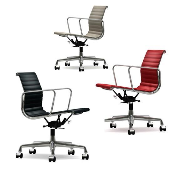 aluminium chair ea 117 leather vitra brands. Black Bedroom Furniture Sets. Home Design Ideas