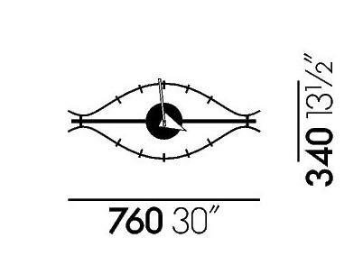 eye clock vitra brands. Black Bedroom Furniture Sets. Home Design Ideas